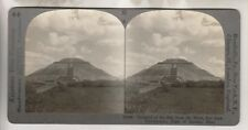 VINTAGE STEREOVIEW - PYRAMID OF THE SUN - SAN JUAN TEOTIHUACAN MEXICO
