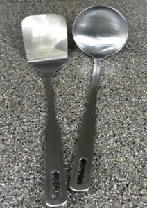 Serving Utensils 18/0 Stainless Steel Spatula And Ladle Unbranded Hanging Slots