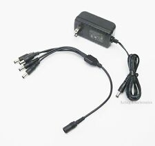 Generic AC Adapter 12V 2000mA w/ 4 to 1 Splitter Cable For Night Owl Cameras