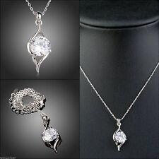 Versilberte Swarovski Modeschmuck-Halsketten & -Anhänger aus Kristall