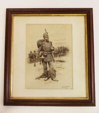 ANTIQUE FRENCH PAINTING OF A SOLDIER BY LISTED ARTIST EDOUARD DETAILLE 1848-1912