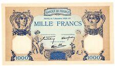 """FRANCE Billet 1000 FRANCS 7/12/ 1939 CERES ET MERCURE """"COPIE"""" SUR ANCIEN PAPIER"""