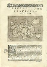 Antique maps, Maiorica [Porcacchi, 1576]
