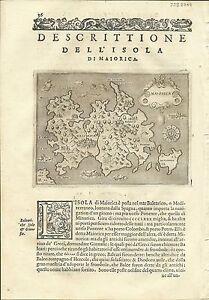 Antique maps, Maiorica [Porcacchi, 1576]