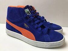 af0a95ce5287b9 MINT Puma Classic Mid Royal Blue Suede High Top Sneaker Orange EU39 M7 UK6