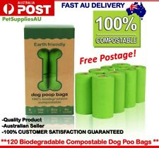 100% Biodegradable Dog Poo Bags Corn Starch Pet Waste Poop Pick Up Garbage Bags