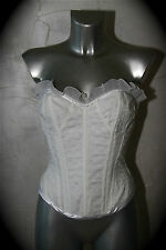 luxurious corset adjustable white CADOLLE CREATION the new size L/LABEL val