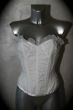 lujoso corsé ajustable blanco CADOLLE CREACIÓN talla L /ETIQUETA valorada en