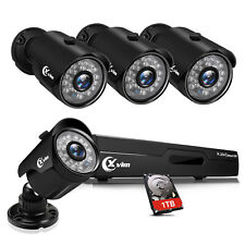 Xvim 8Ch 1080p Dvr 2Mp Outdoor Home Security Camera System with Hard Drive 1Tb