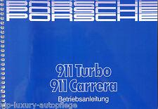 Porsche 911 Carrera + Turbo Modell 1987 Betriebsanleitung Bedienungsanleitung