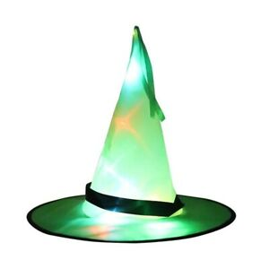 Halloween Decoration Witch Hat LED Lights Halloween Witch Hat For Kids Party