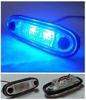 4 X LED FLUSH BLUE MARKER BARS LIGHTS INDICATOR LAMPS 24V TRUCK TRAILER LORRY