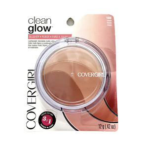 Covergirl Clean Glow Roses Blusher #100 Roses 3 In 1 Blush Trio Sealed New
