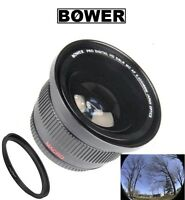 Bower Wide Angle Fisheye Lens w/Macro for Canon EF 50mm f/1.8 II