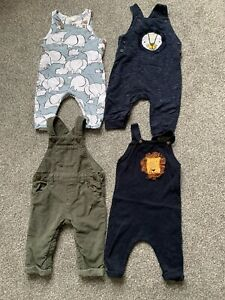 Baby Boy Dungarees X 4 Size 3-6 Months, 6-9 Months