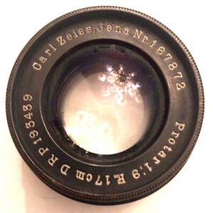 Carl Zeiss Jena 17cm 170mm F/9 1:9 Protar DRP 193439 Glass Lens in Brass Barrel
