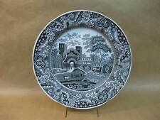 "Spode Traditions Series ""Castle"" Black & White Plate~10 1/4"" ~Archive Collection"