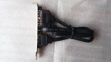 STAFFA PC bracket 1 X USB 2.0 e 1 x eSATA a 10 PIN E SATA