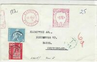 England to Switzerland 1967 Postings to Pay Barnsley Cancels Stamps CoverRf25265