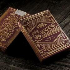 Monarchs Red Playing Cards by Theory 11 Gold Embossed Luxury Deck