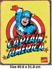 Captain America  RUSTIC Metal Tin Sign 1440   Licensed - Made in USA