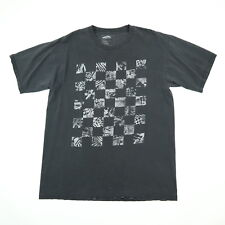 VANs Checkerboard T-Shirt size LARGE Nicely Faded Distressed Black Skateboard