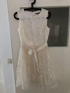 Mint & Berry Hochzeitskleid Standesamt Brautjungfer Sommerkleid Gr. M Creme