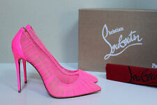 8 / 38.5 Christian Louboutin Pink Follie Draperia Chiffon Pointed Toe Pump Shoes