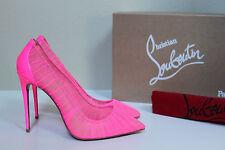 8 / 38.5 Christian Louboutin Pink Follie Draperia Chiffon Pointed Toe Pump Shoes