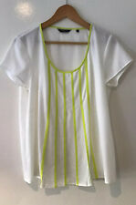 WOMENS BASQUE CREAM TOP SIZE 14