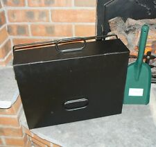 Black Hot Ash Tidy Box Carrier Bucket Fireplace Pan c/w SHOVEL