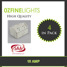 4X 15 AMP IP53 Double Weatherproof  Power Point Socket SAA APPROVE