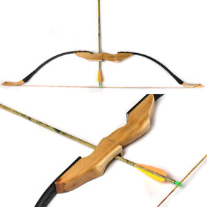 30/40LBS Traditional Mongolian Recurve Bow for Right/Left Hand w/ Mingjiao Wood