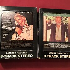 2 Kenny Rogers 8 Track Tapes 1980 Liberty Records