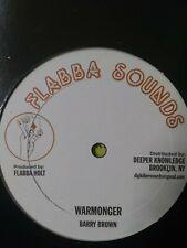 "Barry Brown-Warmonger 12"" Vinyl Single  ROOTS REGGAE"