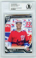 Juan Soto 2016 Bowman International Ink Autographed Rc Rookie Card - Bas