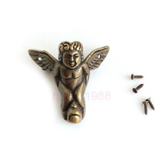 Bronze Jewelry Wood Gift Case Box Album Angel Box Angle Protector Corner Bracket