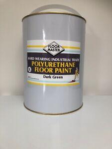 FLOORMASTER GARAGE/WORKSHOP FLOOR PAINT 5LT DARK GREEN used By the Professional