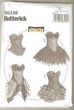 Butterick Sewing Pattern B6338 History Curved Hem Corsets & Skirts Costume 6-14