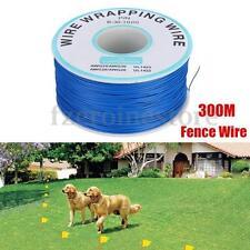 300M Filo Cavo Per Recinto per Animali Cane Animale Domestico in terra elettrocuzione TRAINING NUOVO