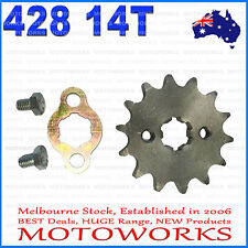 14 Teeth 428 17mm Chain Front Sprocket Cog PIT TRAIL QUAD DIRT BIKE ATV Buggy
