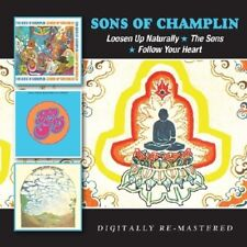 SONS OF CHAMPLIN - LOOSEN UP NATURALLY/THE SONS/FOLLOW YOUR HEART 2 CD NEUF