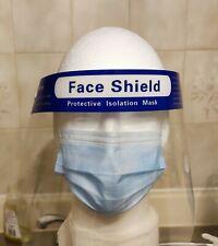 Safety Full Face Shield Reusable Washable Protection Anti-Splash Anti-Fog
