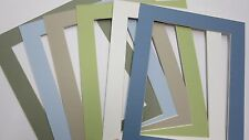 Picture Frame Mat 8x10 for 6x8 Photo choice of colors pastels greens and blues