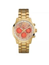 BRAND NEW Guess Pink Gold Tone Chronograph Ladies Watch W0330L11