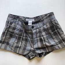 Gray & Blue Plaid Casual Chino Shorts Size 3 Charlotte Russe A604