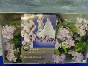 Vintage Wilton Lighted Bridal Garland 6ft. Cake Table hydrangeas