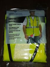 4 pack West Chester Protective Gear Surveyor's Reflective Vest Fits Most Sizes