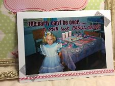 Funny Birthday Greeting Card Party OOAK Handmade Embellished Gift FREE SHIPPING