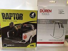 UPOL Raptor BLACK Tough Urethene Coating Truck Bed Liner + Underbody Spray Gun